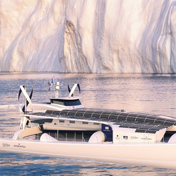 Sailing the seas of the world, green-powered